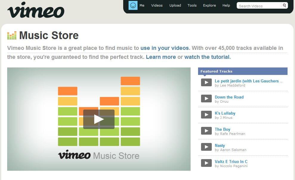 Vimeo lança sua Loja de Músicas para produtores e diretores