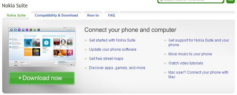 """Nokia Suite - Nokia Suite sai do beta e acaba com o """"OVI Suite"""""""