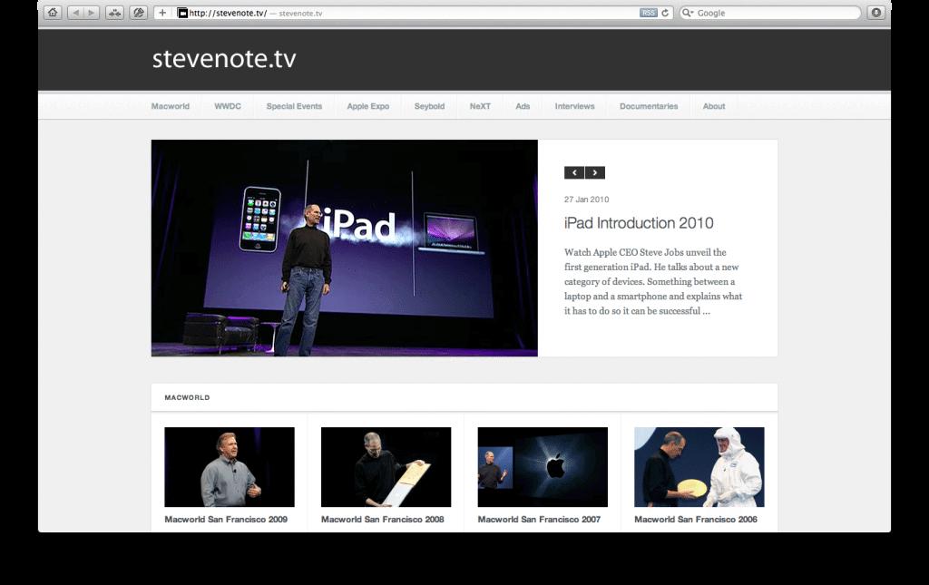 Brasileiro cria site apresentações de Steve Jobs 4