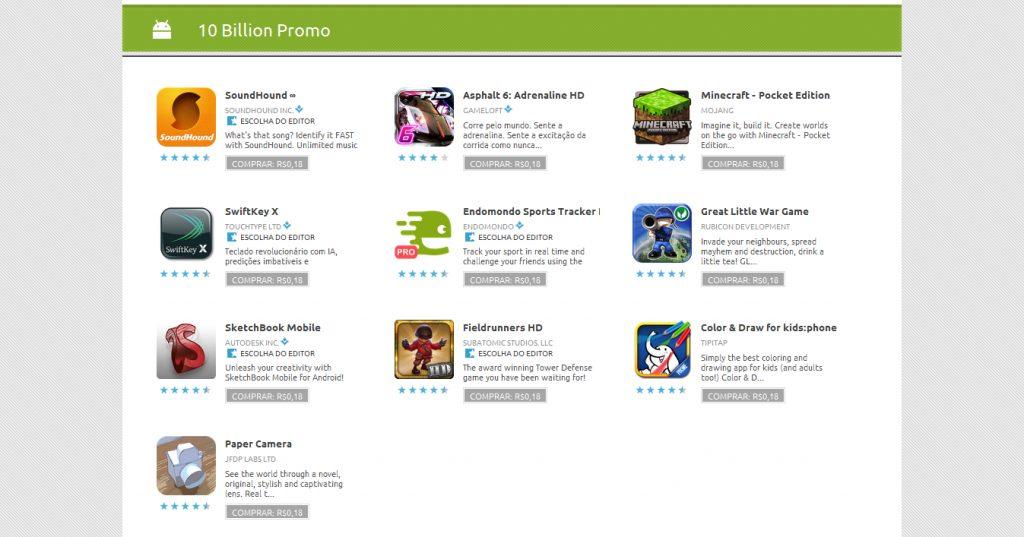 10 Billion Promo Android Market - Android Market comemora o download de 10 bilhões de aplicativos
