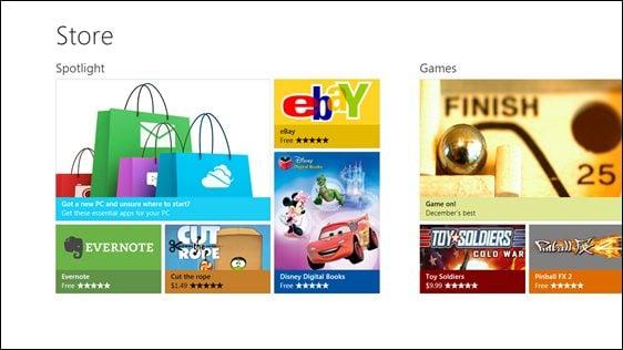 Microsoft demonstra a nova windows store. Executivos da microsoft demonstraram nesta semana como será o funcionamento da nova loja de aplicativos do windows 8. Chamada de windows store, a loja segue alguns dos exemplos das app stores atuais da apple e da google...