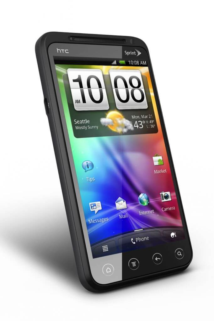 HTC EVO 3D Angle View - Review: smartphone HTC EVO 3D