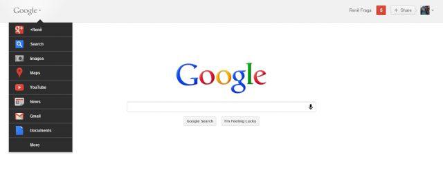 google novo e1322920294318 - Experimente a nova barra de navegação do Google