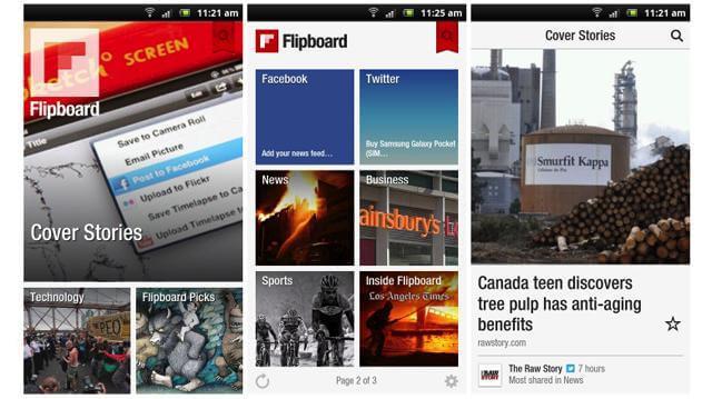 Android flipboard