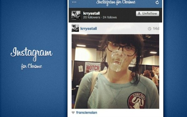 Instagram ganha plug-in para o Google Chrome