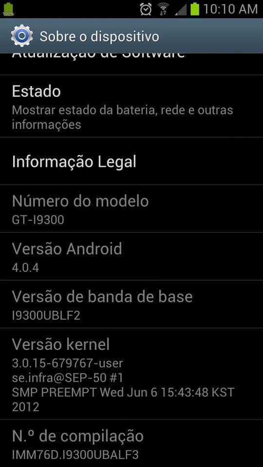 Sai a primeira atualização OTA para o Galaxy S III