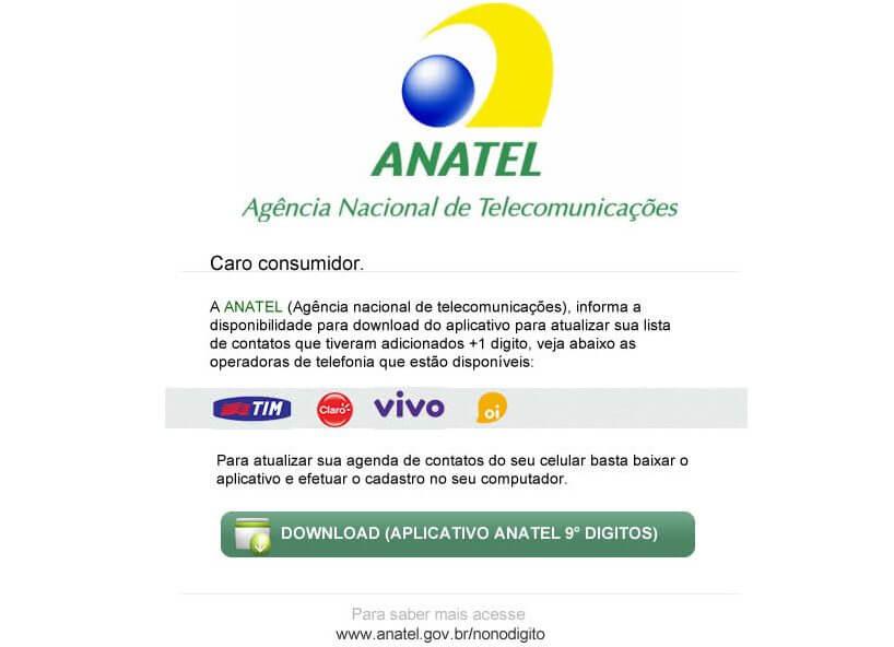 Anatel nono digito app
