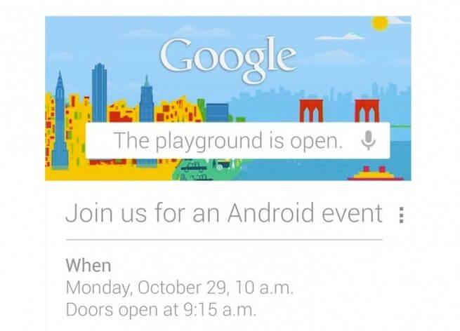 screen shot 2012 10 17 at 5 14 54 pm - Google prepara novo lançamento para o dia 29 de outubro