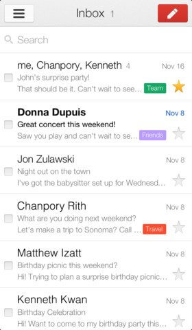 Gmail ios 2