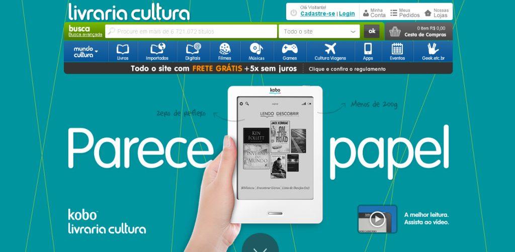 Kobo Livrarias Cultura brasil - Kobo fecha parceria com Livrarias Cultura e também inicia atividades o Brasil