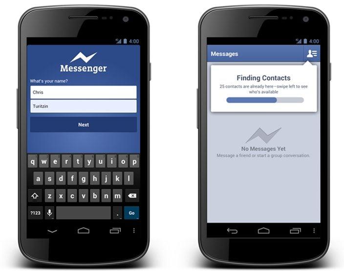 facebook messenger for android - Facebook Messenger dispensa cadastro em nova atualização