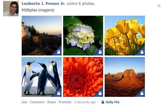 drop photos3 - Inclua mais de uma imagem em seus posts no Facebook
