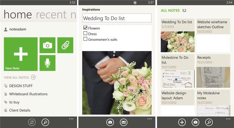 Evernote WindowsPhone - Evernote atualiza aplicativo para Windows Phone