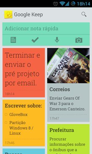 Screenshot 2013 03 20 18 14 47 - Google Keep é lançado, confira as primeiras impressões.