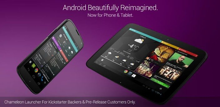 Launchers para Android: Chameleon 2 beta