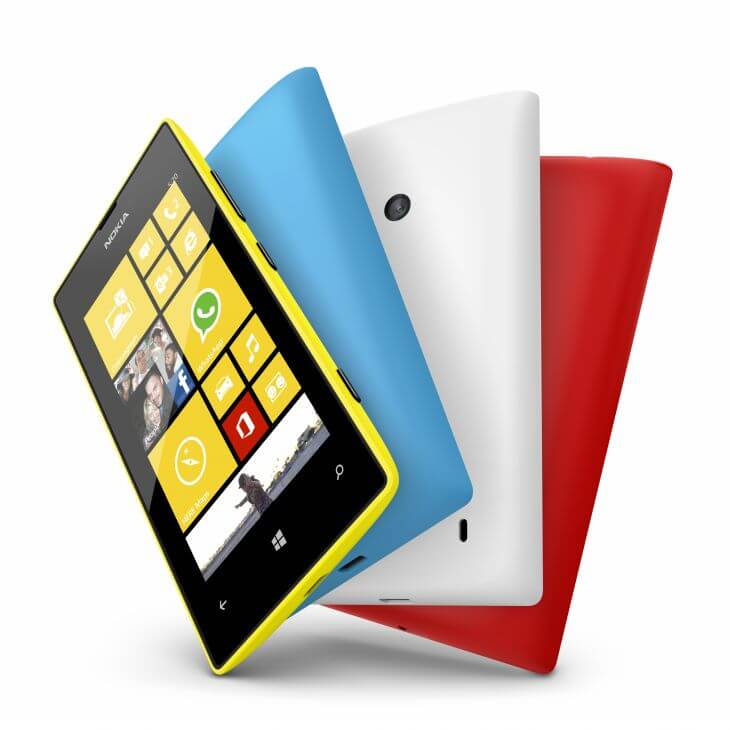 700 nokia lumia 520 yellow cyan white red