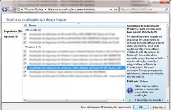 Alerta: nova atualização automática do Windows 7 paralisa o sistema