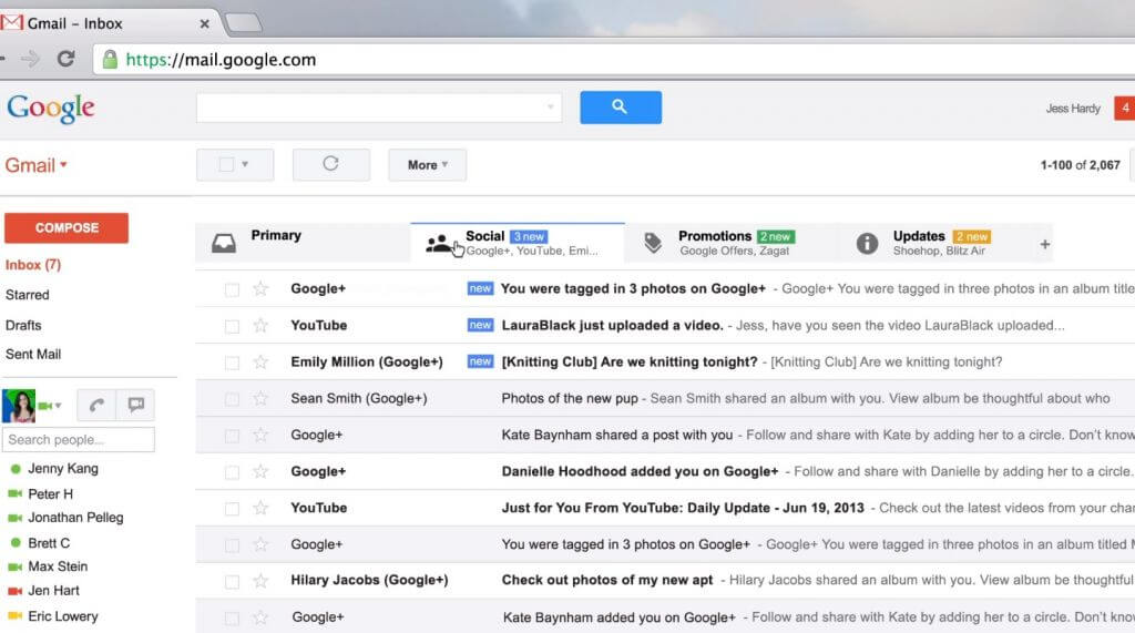 New gmail inbox web 002