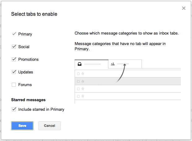 Novo Gmail configurar2 - Tutorial: como ativar as novas abas do Gmail
