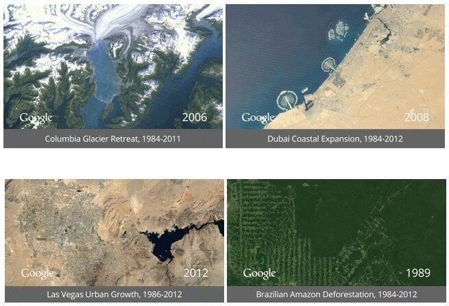 Google cria timelapse que mostra como a Terra mudou nos últimos 25 anos