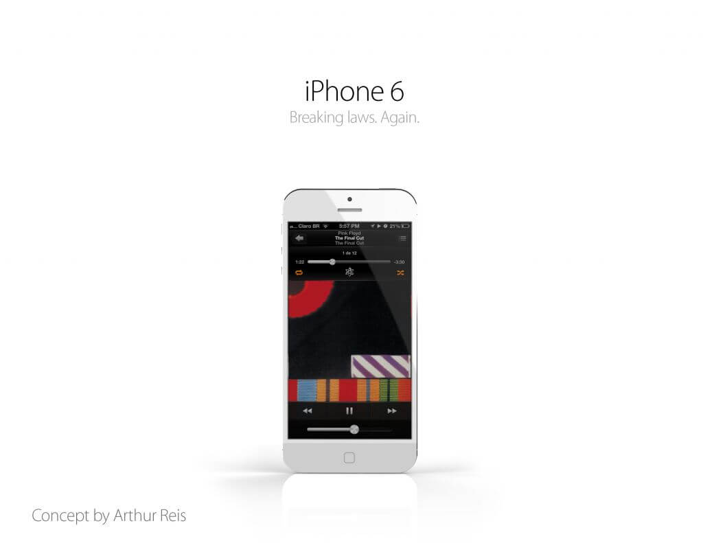 Iphone 6 concept art conceito smartphone apple 3