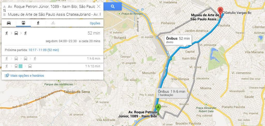 transporte público - Preview: Testamos o Novo Google Maps