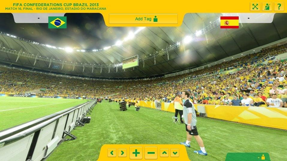 Super câmera mostra torcida na final da copa das confederações