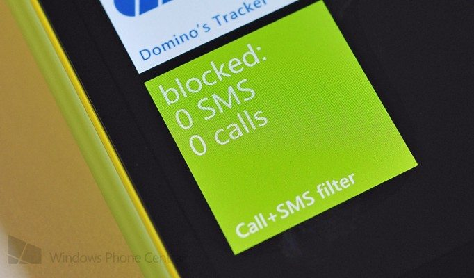 Call SMS Block Tile1