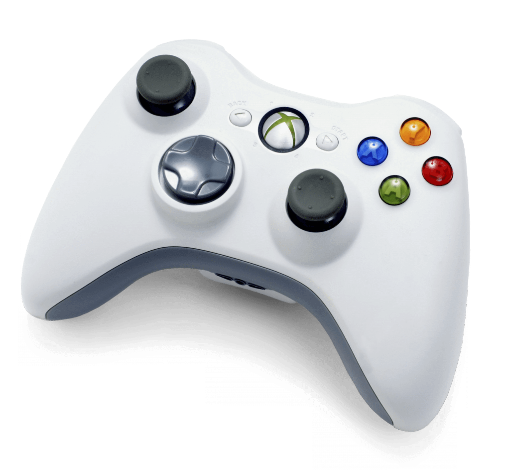 Xbox 360 white wireless controller