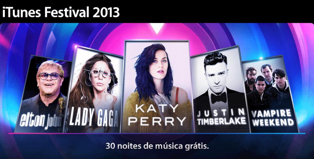 iTunes Festival 2013 traz Lady Gaga, Katy Perry e Elton John