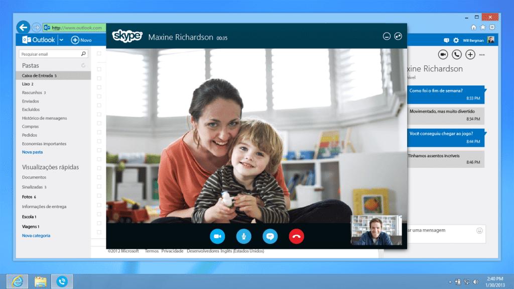 Chamadas Skype pelo Outlook.com são liberadas no Brasil