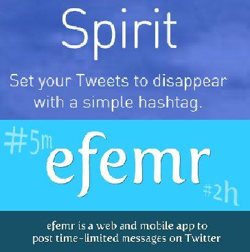 Destacada Spirittwtter - E se Tweets tivessem um prazo de validade? Dois serviços na Internet permitem isso!