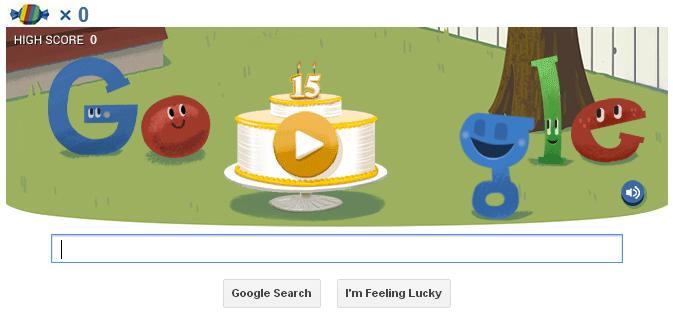 Google celebra 15 anos com Hummingbird e um divertido easter egg