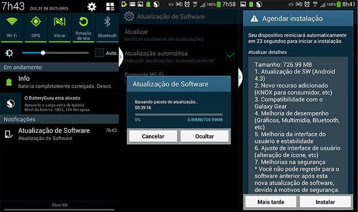 Samsung Galaxy S4 4G (GT-i9505) brasileiro recebe atualização para o Android 4.3