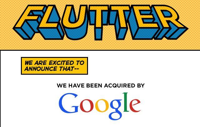 Anúncio da compra da Flutter pelo Google