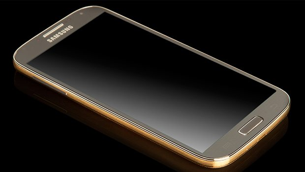 Samsung galaxy s4 gold bling