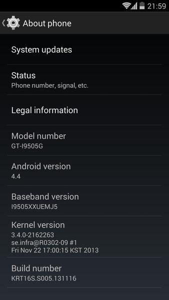 Galaxy S4 LTE (GT-i9505) ganha ROM com Android 4.4 KitKat Google Edition