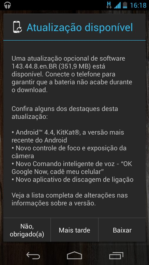 Moto x brasileiro recebe a atualização android 4. 4 kitkat