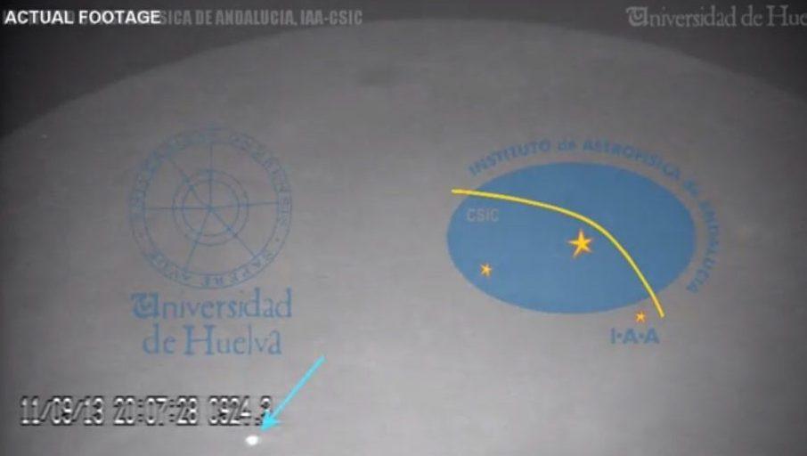 Meteorito colide com a superfície lunar / reprodução/youtube