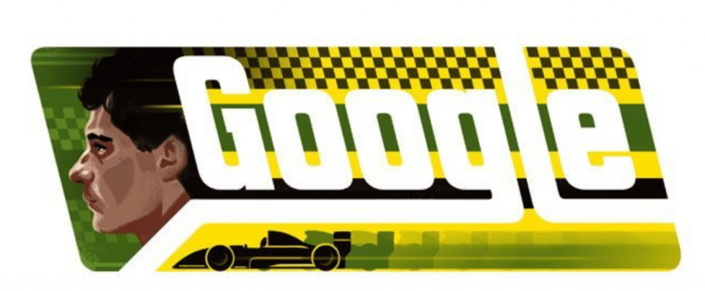 Google homenageia o piloto Ayrton Senna
