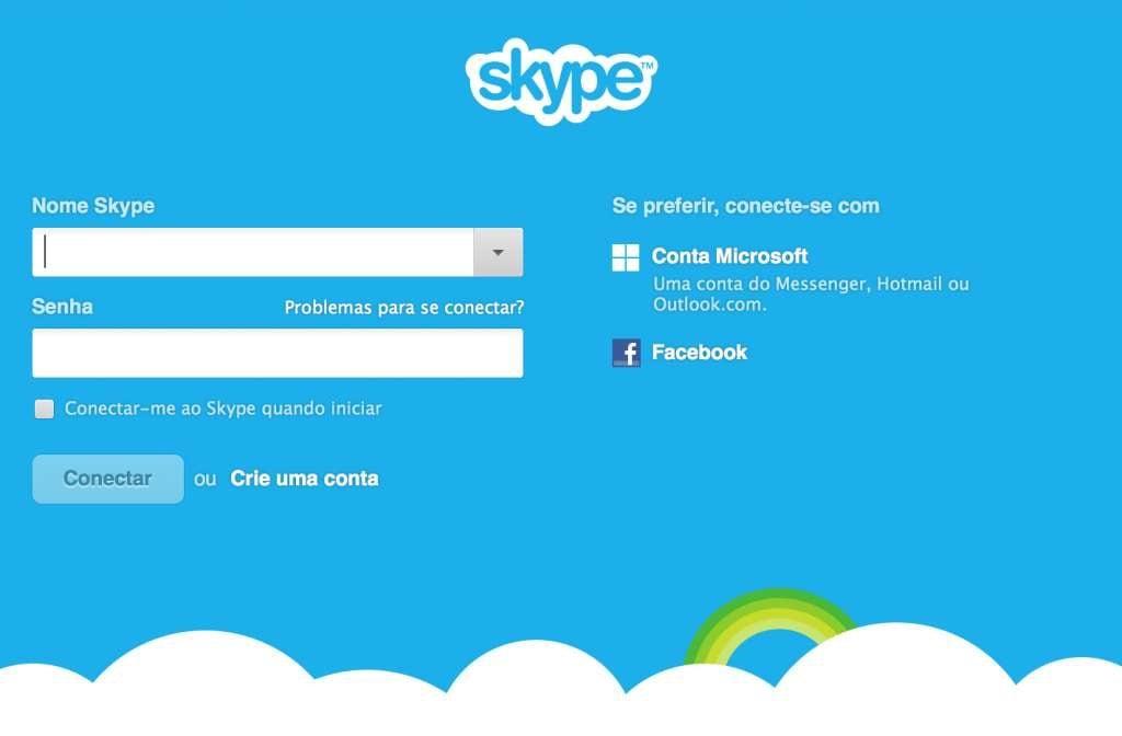 Skype precisa ser atualizado reprodução