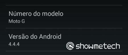 Moto G brasileiro recebe atualização para o Android 4.4.4 Kit Kat