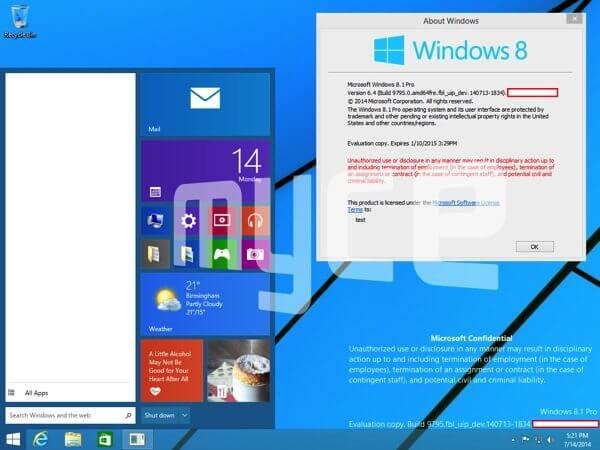 Windows 9: imagens vazadas mostram o novo menu Iniciar