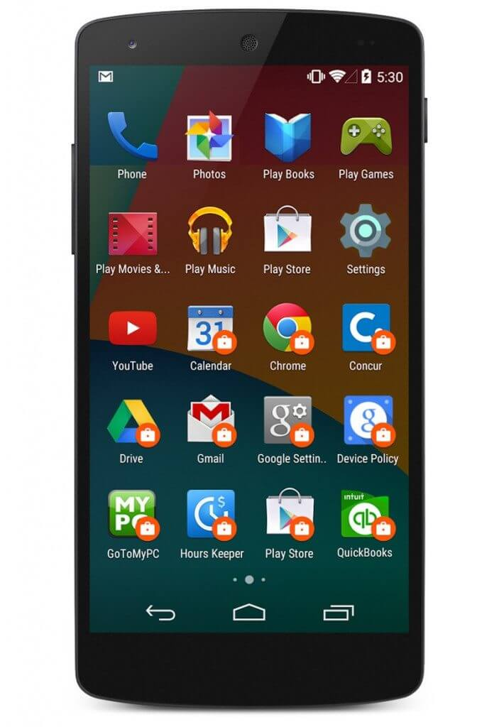Android l google samsung knox lock