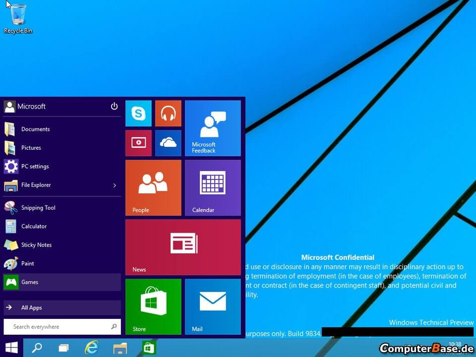Windows Technical Preview 1