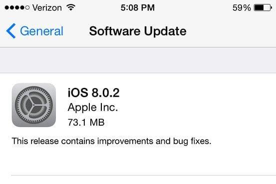 apple ios 8 0 2