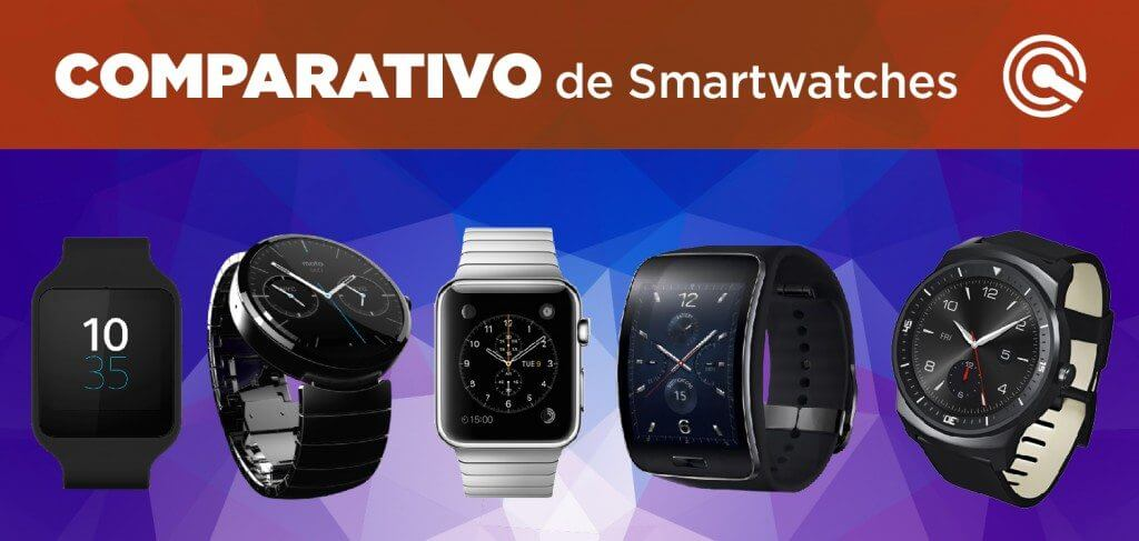 Comparativo smartwatches sony moto 360 samsung galaxy s lg g watch r apple watch
