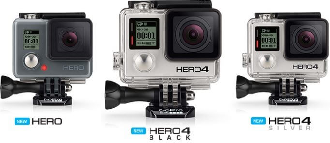gopro hero4 back silver