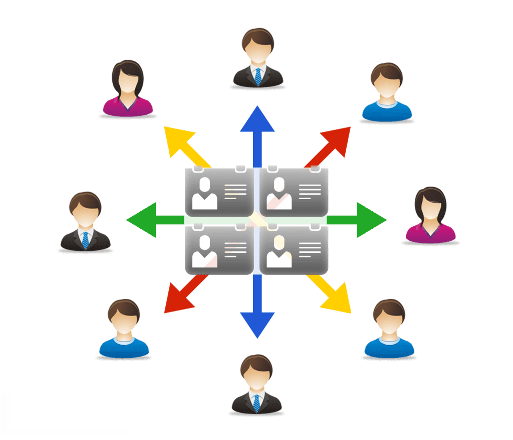 Shared contacts diagram