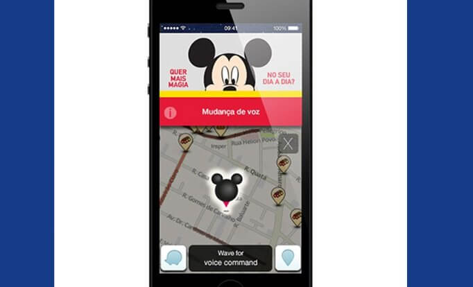 Waze mickey mouse